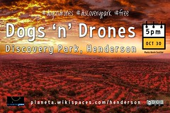 Oct 30, 5pm: #NevadaDay edition of #DogsnDrones in #DiscoveryPark Henderson, Nevada #dogsndrones (3x2 aspect ratio, attribution-sharealike license)