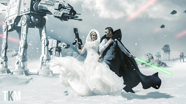 Battle of Hoth Wedding Photo