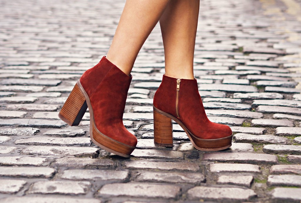 ASOS suede platform ankle boots