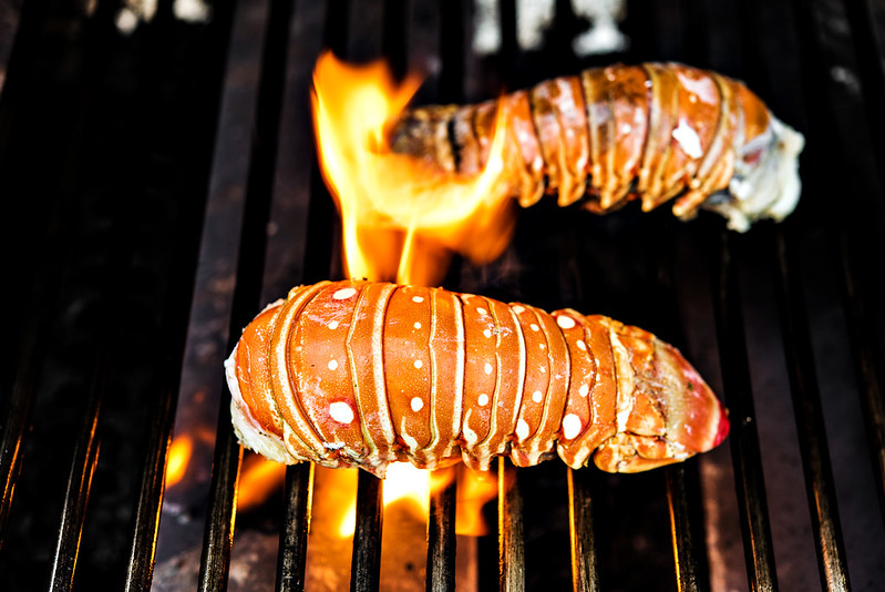 how to grill lobster tails #KingOfFlavor