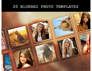 12 Blur Photo Frame Templates – 4 Styles