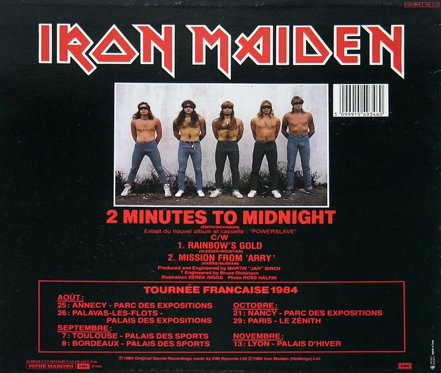 "IRON MAIDEN 2 MINUTES TO MIDNIGHT 12"" MAXI-SINGLE"