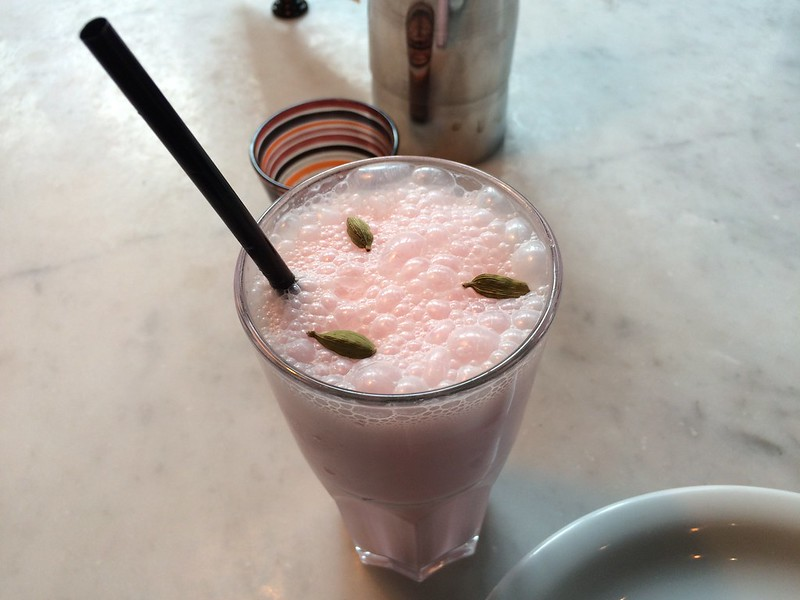 Rose and Cardamom Lassi at Dishoom in Convent Garden