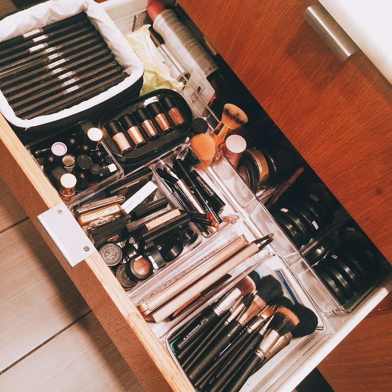 cute & little blog | makeup drawer stash organization