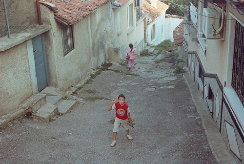 street playing film analog photography photo kid bulgaria sliven