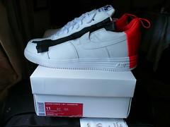 NikeLab NIKE AIR LUNAR FORCE 1 SP / ACRONYM Size 11 WHITE-BRIGHT CRIMSON DS