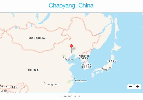 Chaoyang_China_map