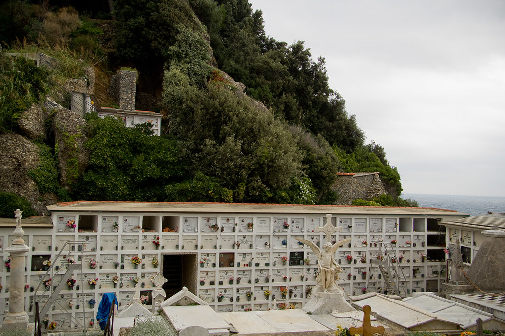 Cemetery behind San Giorgio Church in Portofino