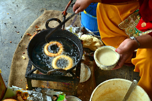 Nepal - Pharping - Woman Making Donuts - 2