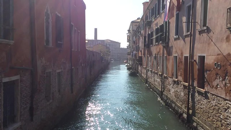 Canal with great light in Giudecca