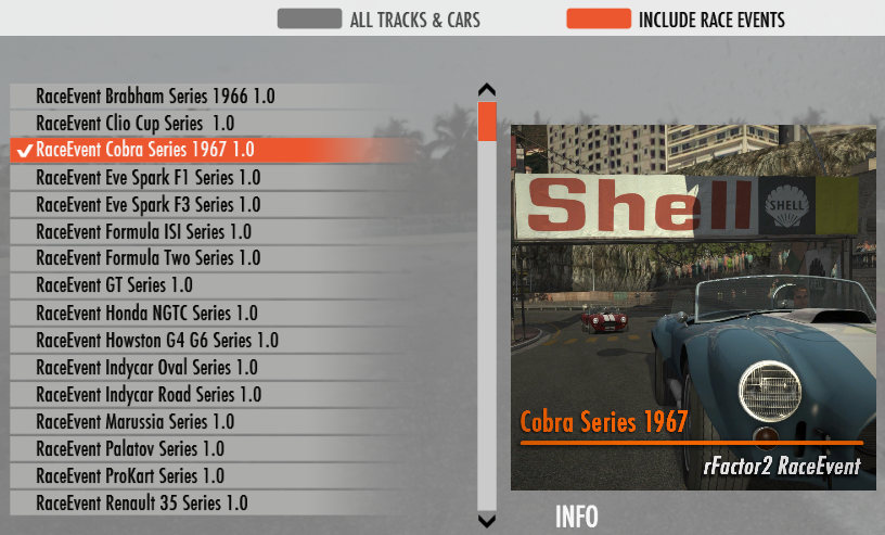 matchmaking rfactor This is a quick set-up guide for hosting a multi-player server using the preconfigured raceevents included in rfactor 2 .