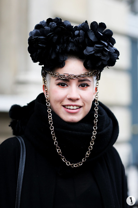 Andrea at London Fashion Week