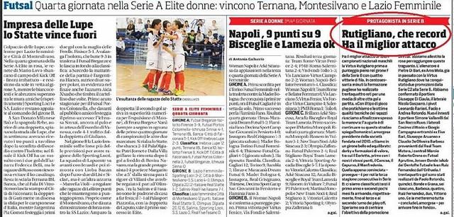 Rutigliano-Corriere dello Sport- Edizione Lunedi 26 Ottobre