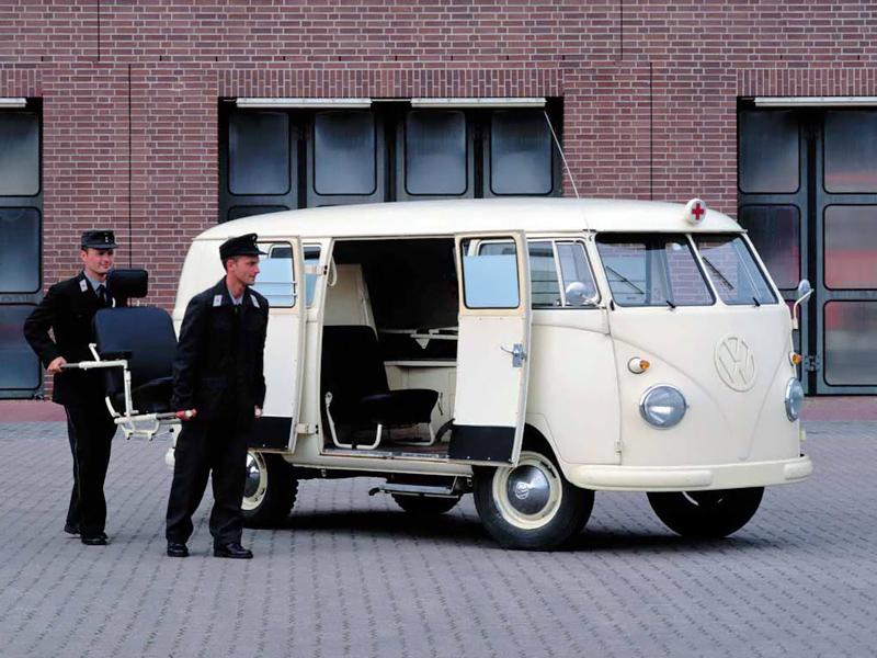 Скорая помощь Volkswagen T1 Krankenwagen. 1958 - 1962 годы