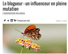 Le blogueur un influenceur en pleine mutation