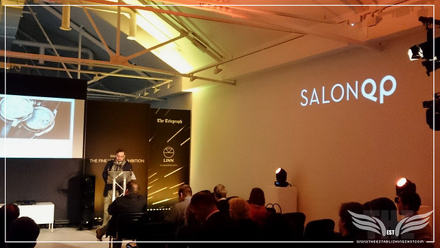 The Establishing Shot: SALONQP 2015 INTRODUCTION BY TIMOTHY BARBER, EDITOR OF QP MAGAZINE (XPERIA Z3 PHONE PHOTO) - SAATCHI GALLERY, LONDON