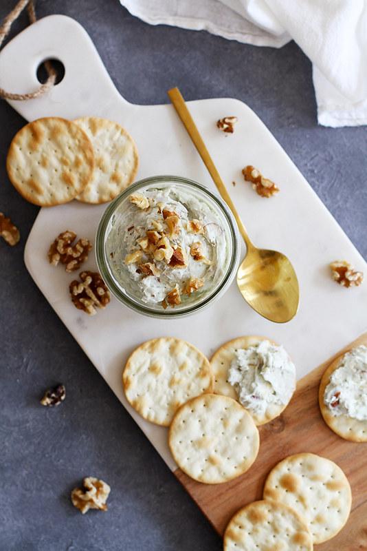 Nutty Blue Cheese Spread | girlversusdough.com @girlversusdough