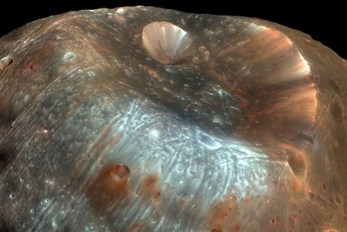 Cráter Stickney sobre Fobos