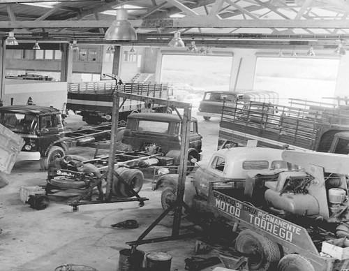 MT Trucks, de Tàrrega, compleix 50 anys. foto antiga Camions antics, anys 60. MT Trucks, Tàrrega Foto: MT Trucks