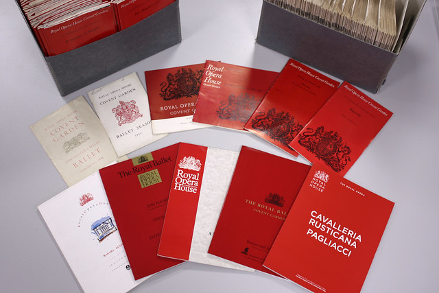 Red programmes 1946–2015, Royal Opera House Collections © 2017 ROH