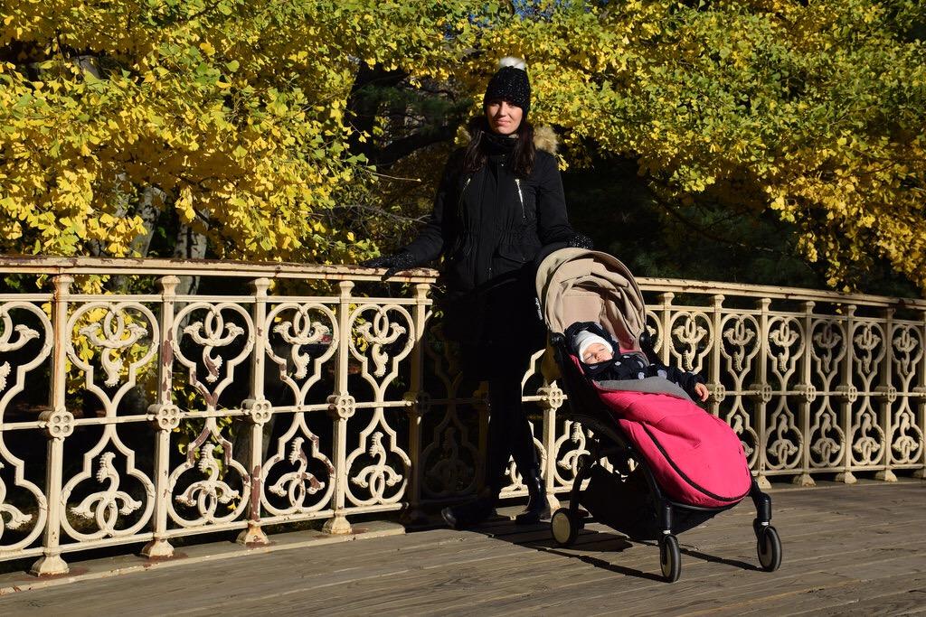 Disfrutando de unos colores increíbles en Central Park.