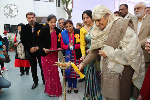 Lighting the lamp by Her Holiness