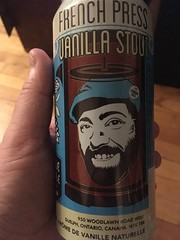 Beersperiment: French Press Vanilla Stout (Guelph, Ontario) @halyma: 4* me: 2*