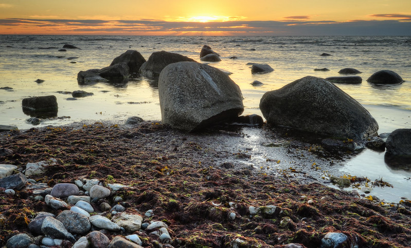 Visby Sunset Sea