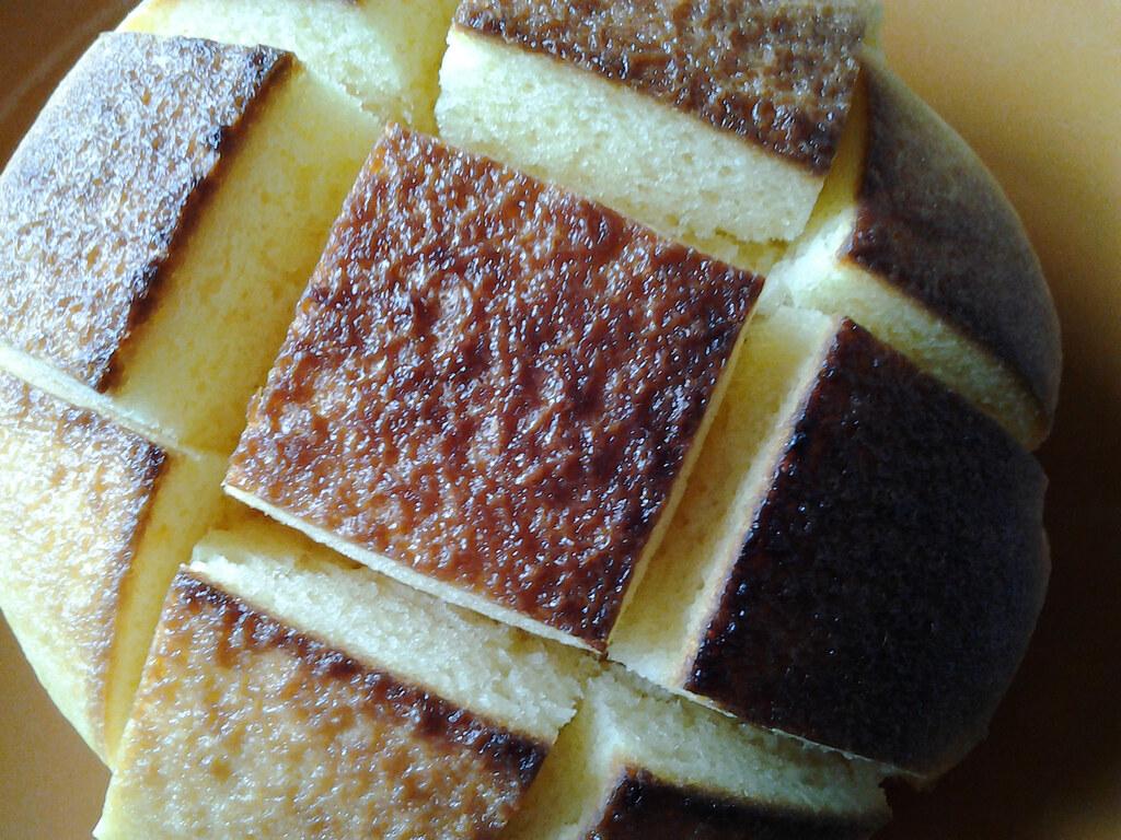 たまご蒸しパンオーブントースター焼き5分