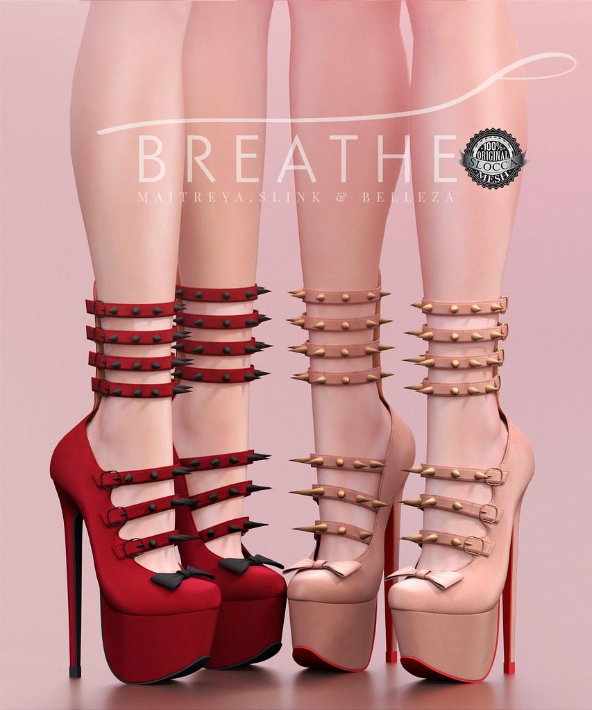 [BREATHE]-Heather Heels - SecondLifeHub.com
