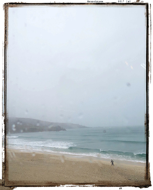 studio view across Porthmeor beach