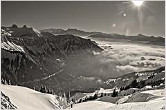 La mer de Brouillard au Valais , the sea of clouds &  the Rochers de Naye . No, 6227.