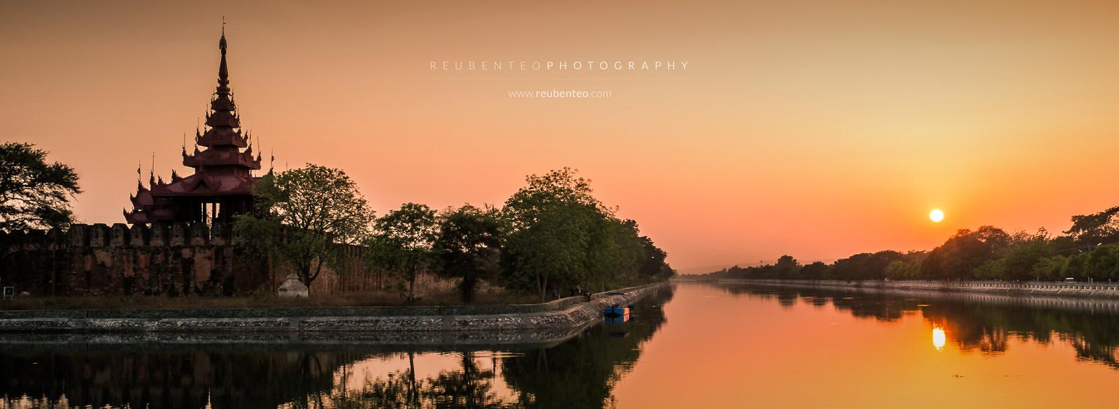 Mandalay Palace Sunset
