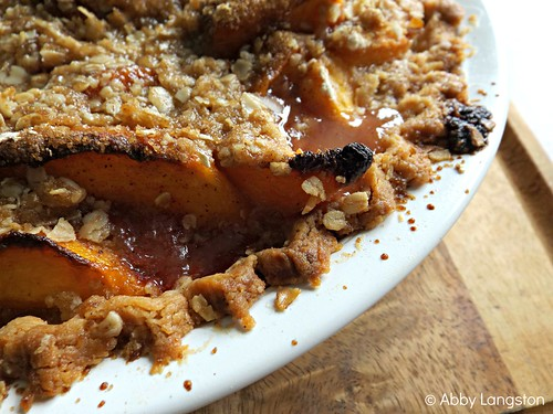 Peach Pie With Oatmeal Crumble  - 2