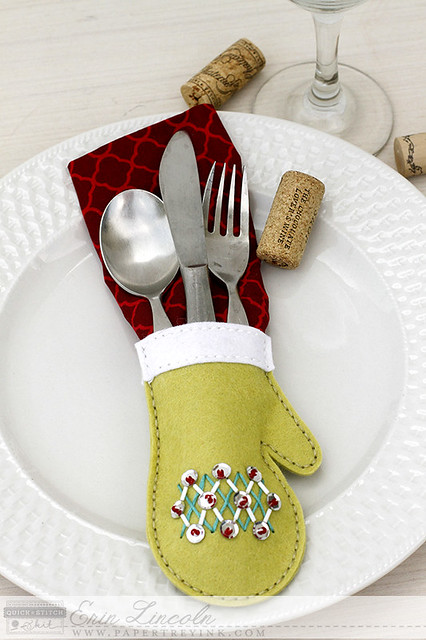 Stitched Mitten as Table Setting