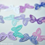 Pastel butterfly garland