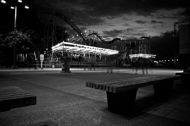The shadows of Cedar Point