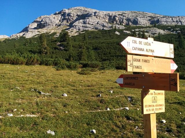Abzweigung Conturines - La Varella