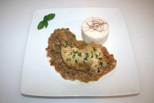 44 - Indian pepper chicken - Servied / Indisches Pfefferhuhn  - Serviert