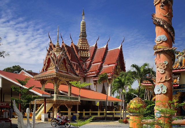 The colorful Buddhist temple Phra Non