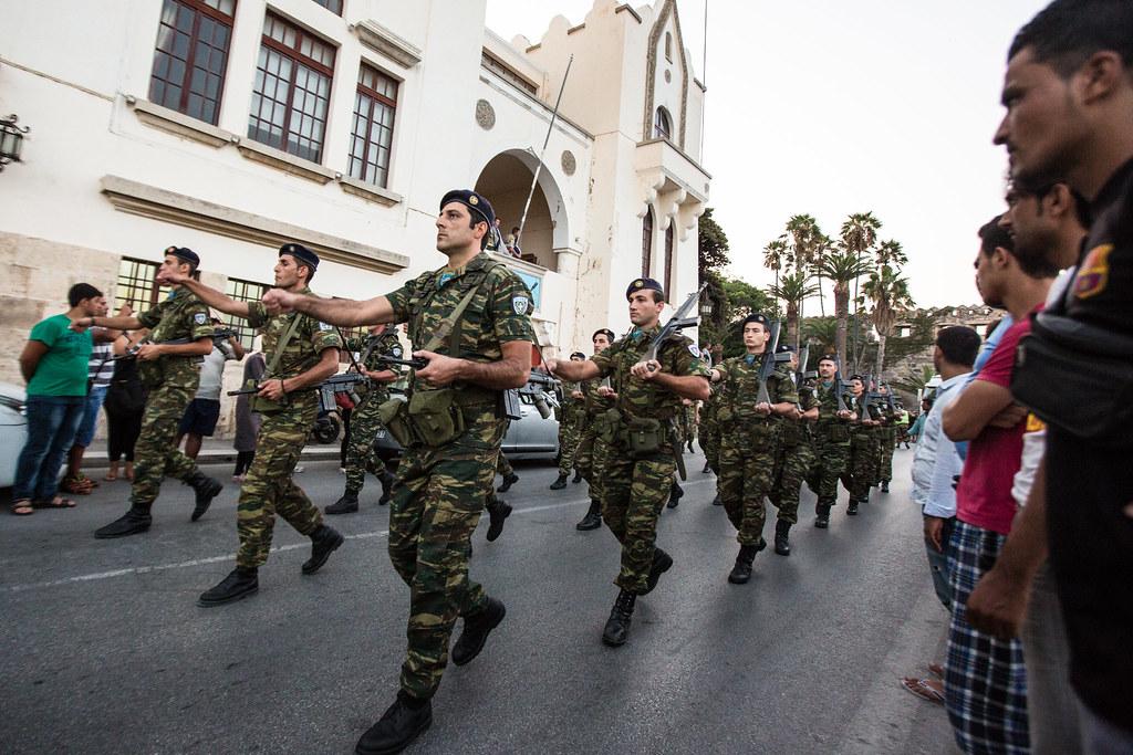 Marsjerende soldater