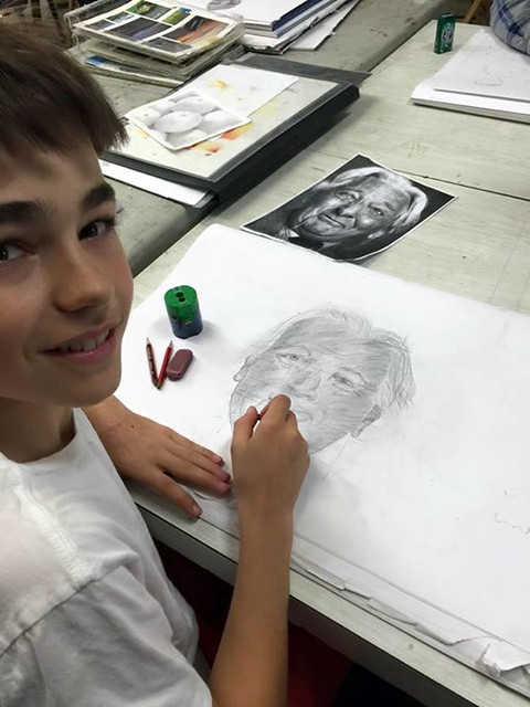 teenager art class with Mike Lamble11