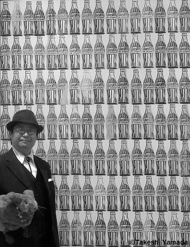 Dr. Takeshi Yamada and Seara (Coney Island Sea Rabbit) visited the Whitney Museum of American Art in Manhattan, NY on October 10, 2014.  20141010 422 380=C3BW. Andy Warhol