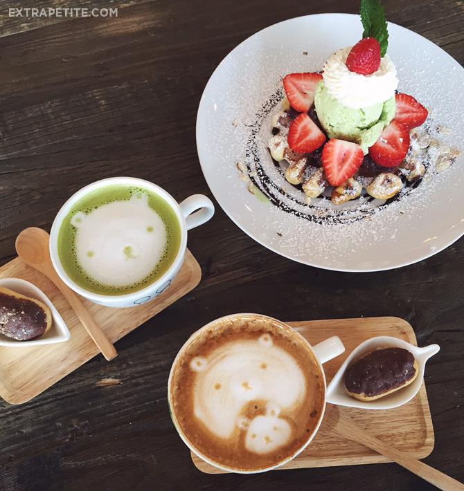 Cafe maji green tea cappuccino