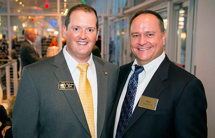 CHS alum, Nick Blish, with College of Health Sciences Dean, Ron A. Cisler.