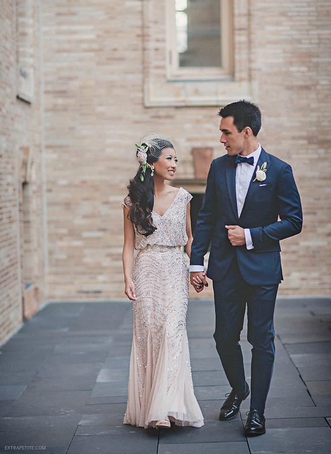 wedding champagne reception dress aidan mattox