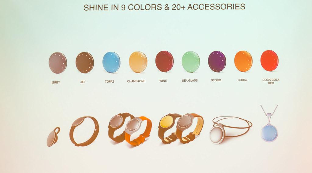 SHINE 9色 と 20種以上のアクセサリー