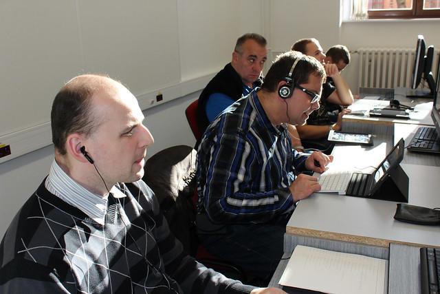 Workshopy ve středisku Teiresiás o speciální ICT pro uživatele se zrakovým postižením, 14. 11. 2015