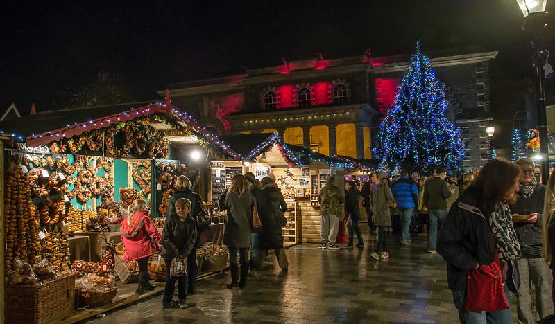 Christmas market in Salisbury, England. Credit Anguskirk