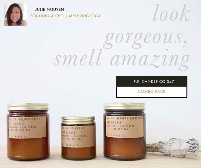Well-groomed-gift-guide-for-her-Julie-Nguyen-Methodology-pf-candle-co